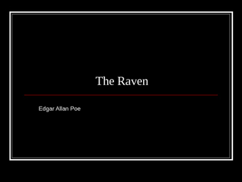 Slideshow: The Raven Summarizer/Literacy Project
