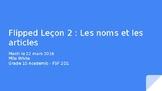 Slideshow lesson on Les Noms et Les Articles