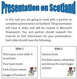 Slideshow on Scotland task Sheet