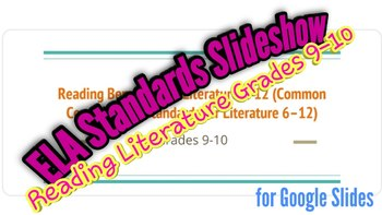 Slideshow with MN Reading Literature Benchmarks Grades 9-10