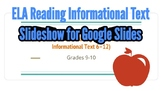Slideshow with MN Reading Informational Texts Benchmarks G