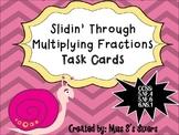 Slidin' Through Multiplying Fractions Task Cards