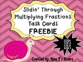 FREEBIE Multiplying Fractions Task Cards 5.NF.4, 5.NF.6, 6.NS.1