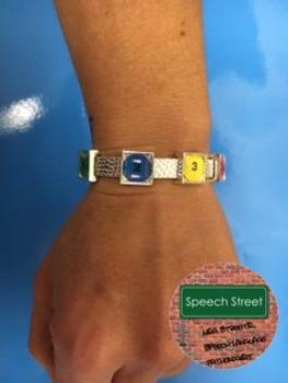 Sliding Charms Visual Symbol Bracelet for Speech Therapy
