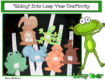 """""""Leaping"""" Animal Slider craftivities:  Numbers, Letters & 2D Shape Review Craft"""