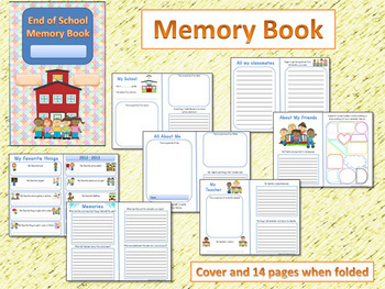 End of the Year Memory Book and Literacy Activities