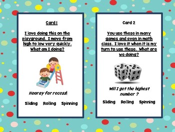 Motion: Sliding, Rolling, Spinning:  Compare Patterns of Movement