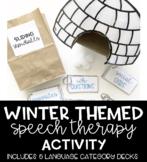 Sliding Snowballs Winter Themed Speech Therapy Activity