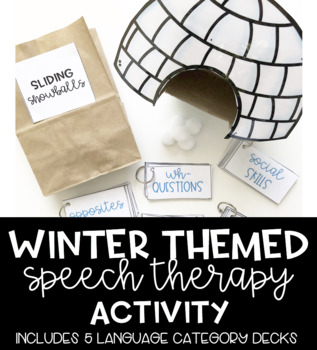 Sliding Snowballs Winter Themed Speech Therapy Activity