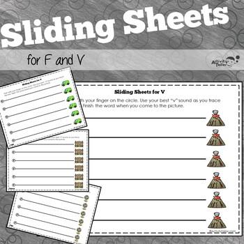 Sliding Worksheets for F and V Articulation Practice