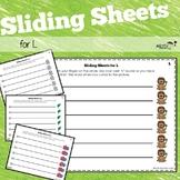 Sliding Worksheets for L Articulation Practice