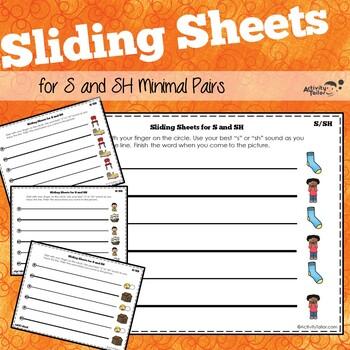 Sliding Worksheets for Minimal Pairs SH/S