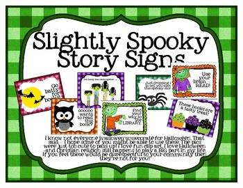 Slightly Spooky Story Library Displays