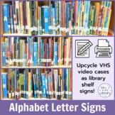 Slim, Editable Alphabet Letter Library Shelf Signs