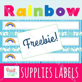 FREE! Slim Editable Name Tags / Classroom Labels with Rainbow Design {Decor}