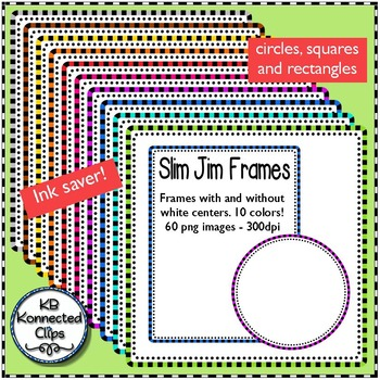 "Slim Jim Frames Trio - Ink Savers with a ""Pop"" of Color!"