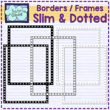 Slim and Dotted frames - borders Clip art