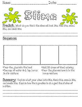 photograph regarding Slime Science Printable Report called Slime Science Worksheet Identical Keywords and phrases Ideas