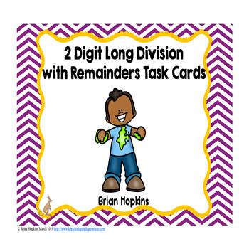 Slime 2 Digit Long Division with Remainders Task Cards