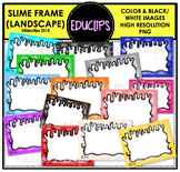 Slime Frames Clip Art Bundle {Educlips Clipart}