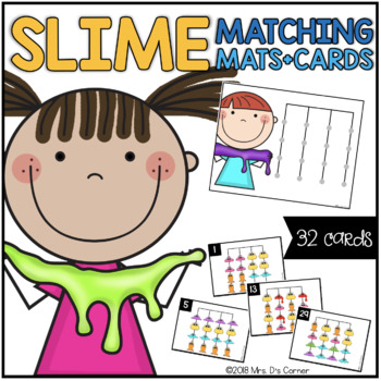 Slime Guys Matching Mats and Activity Cards (Patterns, Colors, and Matching)