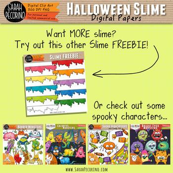 Slime Halloween Digital Paper