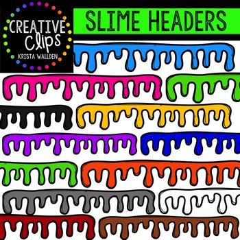 Slime Headers {Creative Clips Digital Clipart}