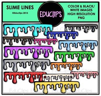 Slime Lines Clip Art Bundle {Educlips Clipart}