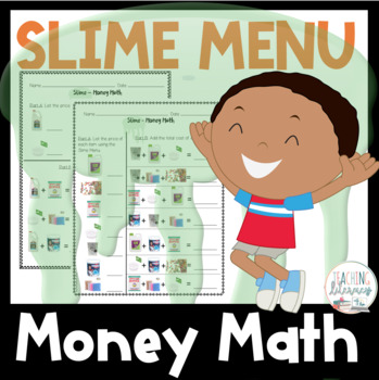 Menu Money Math Addition Worksheets