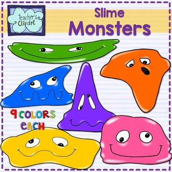 Slime Monsters Clip art