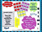 Slime Place Value, True or False Task Cards, Grades 2-3