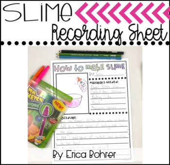 Slime Recording Sheet {FREEBIE}