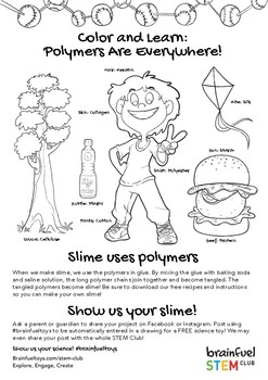 Slime Science: Polymers are Everywhere Color and Learn Printable