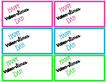 Valentines Day Cards- Happy Valen-slimes Day!