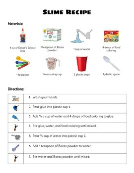 Slime visual recipe by a will and a way teachers pay teachers slime visual recipe ccuart Gallery