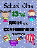 Slime science expierment with a reading comprehension page
