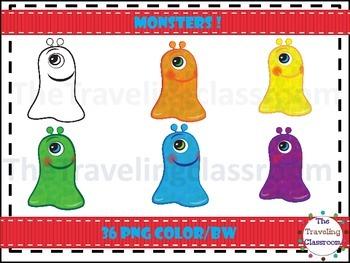 Slimy Monster Clip Art