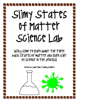 Slimy States of Matter Lab and States of Matter Posters