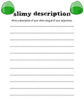 Slimy Writing Packet