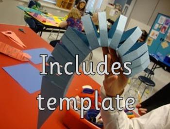 Slinky Lizard Template Paper Sculpture