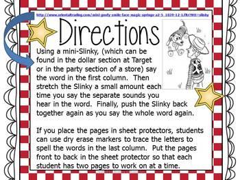 Slinky Stretching CVC Non-Sense Words!