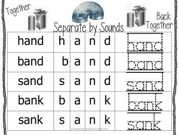Slinky Stretching CVCC Words~ Regular and Non-Sense Words