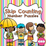 Skip Counting Puzzles- Spring Theme