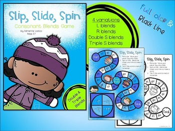 Slip, Slide, Spin Initial Blends Games ~ Consonant blends, double and triple