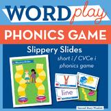 Slippery Slides Short I / CVCe I Phonics Game - Words Their Way Game