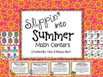 Slippin' Into Summer Math Stations