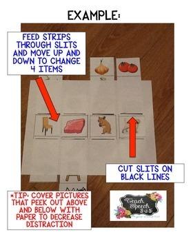 Slips To Slide: Receptive/Expressive Vocabulary Activity
