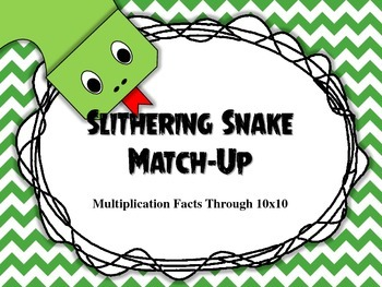 Slithering Snake Match Up Through 10x10