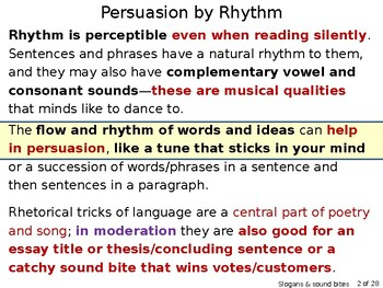 Slogans & Sound Bites: Rhetorical tricks for persuasive & memorable writing