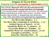 Slogans & Sound Bites: Rhetorical tricks for persuasive &